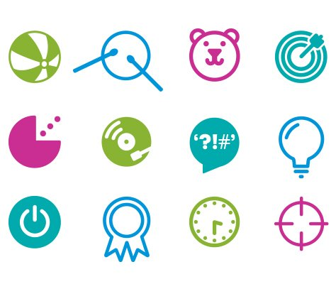 Islington Libraries icons 474w x 400h px