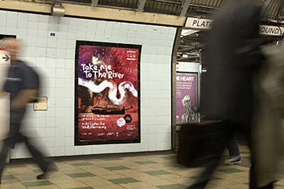 Totally Thames Tall Ships poster on Underground-405